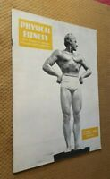 1940 VTG Physical Fitness Magazine the Guide to Strength, Health and Physique