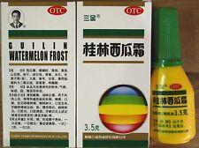 1 Bottle Gui Lin Watermelon Frost Powder Spray,Mouth Canker, Sore Throat,3.5g