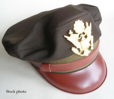 Repro WW2 Crusher Cap US AAF Army Air Force Officer's Elastique Dark OD 51 58cm