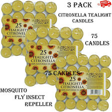 Citronella Tealight Candles Mosquito Fly Insect Repeller Tea Lights Fragranced
