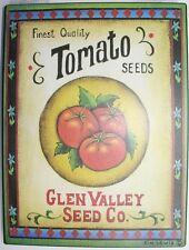 Iron Tin Metal Sign Home Kitchen Tomato Ripe Seed Glen Valley Co Decor wall art