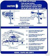 1969  GTO/TEMPEST/LEMANS JACK INSTRUCTION DECAL