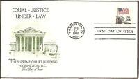 US SC# 1895 Flag- Court FDC. Coil, Artmaster Cachet.