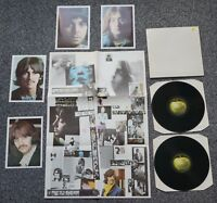 THE BEATLES - WHITE ALBUM - 1980's UK APPLE STEREO *TOP COPY* + POSTER + PHOTOS