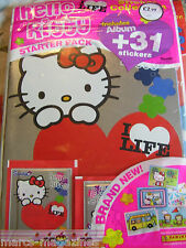 Panini hello kitty i love life autocollant collection livre album new & 31 autocollants