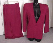 Vintage 80's Burgundy DeSiGnEr Career Suit with Jacket & Pencil Skirt-Small-