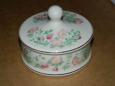 Ringtons Trailing Rose Trinket Box with Lid, Porcelain/China by Wade