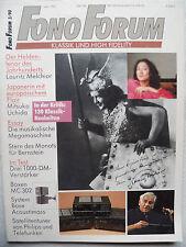 Fono Forum 3/90. BOSE acoustmass il 5, ONKYO a 8670, Pioneer a 757, YAMAHA AX 730,