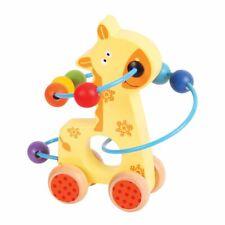 Bigjigs Toys Wooden Giraffe Push Along Bead Frame
