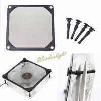 Dustproof 120mm Case Fan Dust Filter for Computer PC +4pcs Fan Rubber Screws