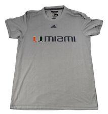adidas Mens Miami Hurricanes Aeroknit Tee Shirt New L