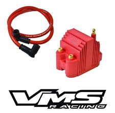 VMS RACING RED HIGH SPARK BLASTER SS IGNITION COIL + WIRE FOR HONDA CIVIC