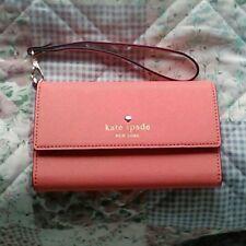 Kate Spade iPhone 6 / 6s Smartphone Wallet Case Wristlet Tangerine