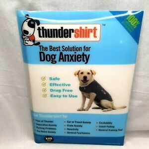 Thundershirt CLASSIC Dog Anxiety Treatment Wrap Vest XX-Small Heather Grey EUC