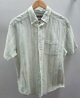 Tu Green Short Sleeved Shirt Size M Linen/Cotton Blend <J1770z
