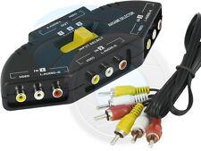 3 Port AV Composite with Audio RCA Phono Selector Switch