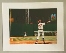 """Red Sox vs the Reds 16x20 Litho Iconic Carlton Fisk """"Stay Fair"""" Shot LE 324/500"""