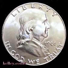 1961-D 50C Franklin Silver Half Dollar BU