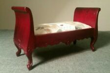 Dolls House Emporium Sleigh Shaped Window Seat Or Day Bed With Floral Cushions