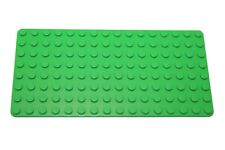 LEGO Base Plate 8x16 MiniFigure - (1) -  Genuine BRIGHT GREEN Thin Brick - NEW