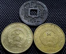 """Ancient Vietnam """"Ming Ming Tong Bao"""" & 5000 Dong coin 2 pcs (+FREE 1 coin)#D1883"""