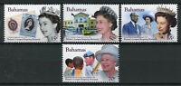 Bahamas 2015 MNH Queen Elizabeth II Longest Reigning 4v Set Royalty Stamps