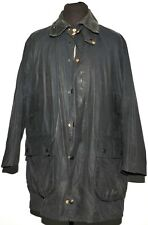 BARBOUR BORDER WATERPROOF WAX JACKET SIZE C42 107 CM NAVY A205