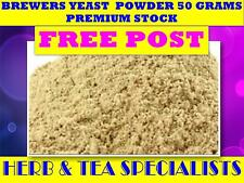 BREWERS YEAST POWDER 50G ☆ PREMIUM STOCK ☆ Saccharomyces cerevisiae☆ FREE POST