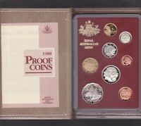 1988 Australia Proof Coin Set in Folder with outer Box & Certificate