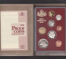 1988 Australia Proof Coin Set in Folder with outer Box & Certificate *