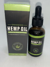 Enhanced Peppermint Hemp Oil Drops for Pain Relief, Stress, Sleep 1000mg