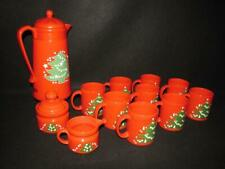 Waechtersbach Fine China  Christmas Tree Cocoa  Coffee Mugs Cream Sugar Thermos