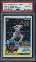 2018 Topps Series 1 1983 Chrome Silver Pack 38 Miguel Andujar RC PSA 10 Gem Mint