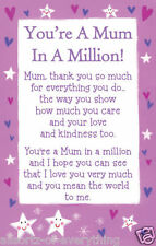 Mamá en un millón de heartwarmers Keepsake Tarjeta de Crédito & envolvente Regalo Día De Las Madres