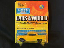 Ertl Cars of the World 57' Chevy Yellow Toy Car Made In Hong Kong