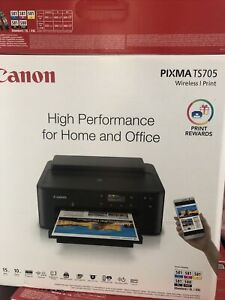 Canon Pixma TS705 A4 Colour Inkjet Printer - Black