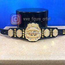 💎 UPDATED IWGP NJPW Custom CHROME Heavyweight Title Belt Elite Figure Lot WWE