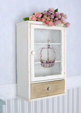 Wall showcase wall cabinet country style wall shelf wood one drawer glass door