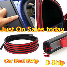 4M Mini D-Type Car Door Weatherstrip Adhesive Seal Rubber Trim Strip Tape Parts