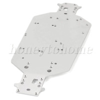 04001 Silver Aluminum Chassis Upgrade Sets for HSP RC1:10 Off Road Car Buggy