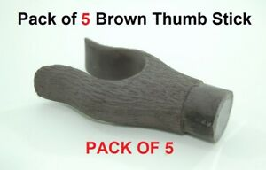 Thumb stick head 5 Pack Brown Resin for walking stick Making fits 25mm collar