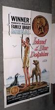 ISLAND OF THE BLUE DOLPHINS original 1964 RARE one sheet movie poster CELIA KAYE