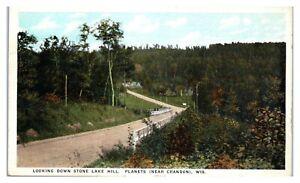 Looking Down Stone Lake Hill, Planets near Crandon, WI Postcard *6M8