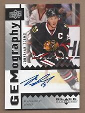 2009-10 Upper Deck hockey card Jonathan Toews autographed Chicago Blackhawks