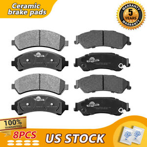 Front Rear Ceramic Brake Pads For Chevy S10 S-15 Jimmy Sonoma Hombre Bravada