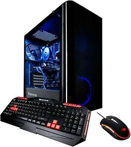 """iBUYPOWER Gaming PC Trace 4 w/ 2 8GB graphics cards & SCEPTRE 27"""" 4K LED Monitor"""
