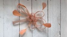 Nude Fascinator Peach Feathers Hair Clip Ladies Day Races Party Wedding