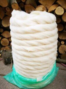 Kammzug / Kardenband Schurwolle (Merino)/  Baumwolle 50/50 4,50€ 100g / 45€ kg