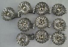 Vintage Lot of 10 Silver Tin Metal Clip-On Christmas Tree Candle Holders