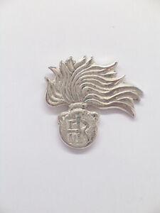 Spilla da giacca con la FIAMMA dell'ARMA dei CARABINIERI in Argento 925 - pins -